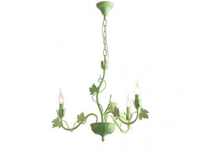 47519 1 zavesne svitidlo 58cm 3 ramena matna zelena aca lighting eg170605pg