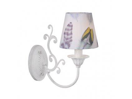 Nástěnné svítidlo   Ø14cm, fialovo-bílá patina + bílá + vícebarevná   Aca Lighting (EG169881WP)