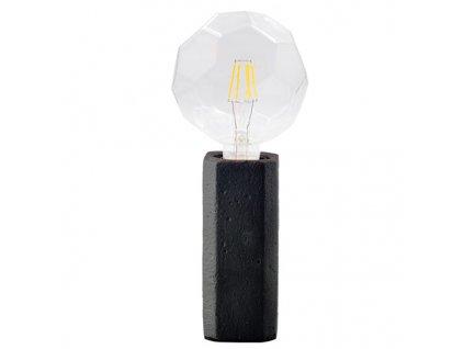 Stolní lampička | Ø6,2cm, jíl + černá | Aca Lighting (V372011TBK)