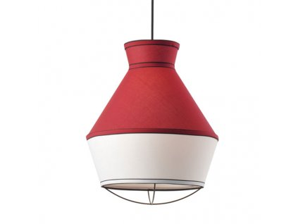 48008 2 zavesne svitidlo colorato 35x43cm bordeaux bila cerna tkanina aca lighting v371961pr