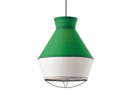 48017 2 zavesne svitidlo colorato 35x43cm smaragdova bila cerna tkanina aca lighting v371961pe