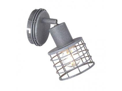 Nástěnné a stropní svítidlo | Ø9,5x7,4cm, imitace cementu | Aca Lighting (GN731CCE)