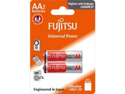 Fujitsu Universal Power alkalická baterie LR06/AA, blistr 2ks