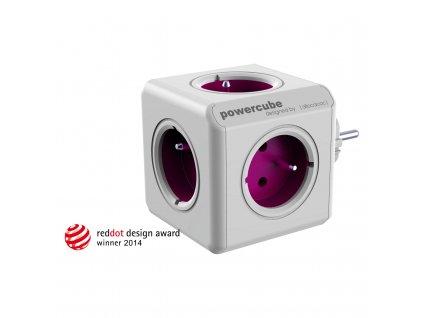 5734 1 powercube rewirable 5 x zasuvka sada travelplugs fialova