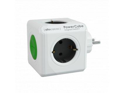 PowerCube Original Switch - 4 x zásuvka + vypínač - šedá