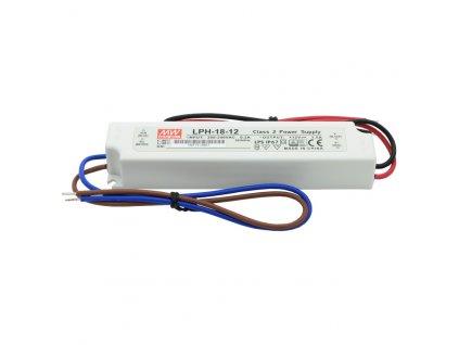 Napájecí zdroj pro LED - 18W/12V/1,5A/IP67 - Mean Well (LPH-18-12)