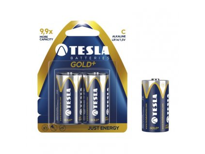 tesla baterie c gold 2ks lr14