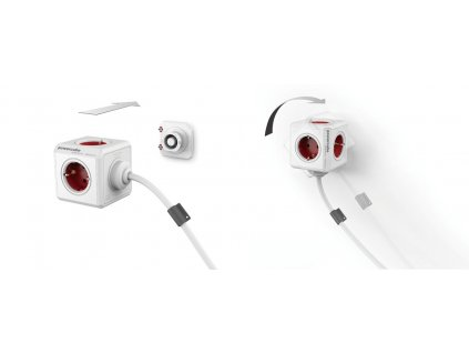 PowerCube Extended - 5 x zásuvka + 1,5 přívodní kabel - zelená