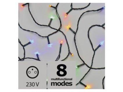 Vánoční LED řetěz - rýže - 80xLED, 8+5 metrů, IP44, multicolor, programy - Emos (ZY1450)