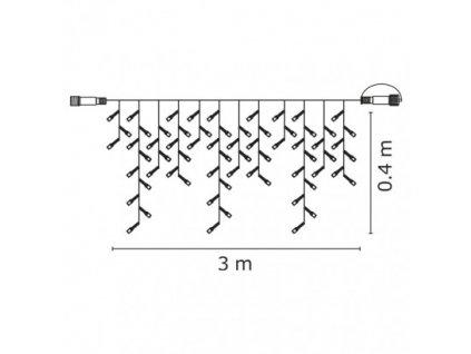 74676 profi led spojovaci retez krapniky 50xled 3x0 4 metru ip44 studena bila cerny kabel emos zy2010