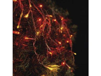 Spojovací LED řetěz - krápníky (puzující) - 100xLED, 2,5x0,9 metru, IP44, červená + vintage - Emos (ZY2003)