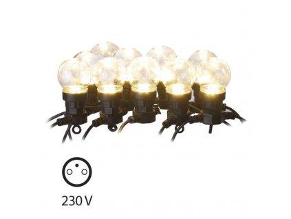 74886 1 led svetelny retez party zarovky cire 10xled 5 5 metru ip44 tepla bila casovac emos zy2053