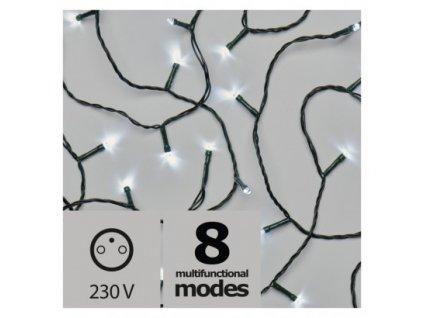 Vánoční LED řetěz - rýže - 180xLED, 18+5 metrů, IP44, studená bílá, programy - Emos (ZY2159)
