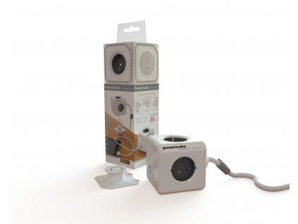 760 5 powercube extended usb 4 x zasuvka 2 x usb 1 5 privodni kabel cervena