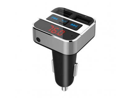 FM transmitter s bluetooth připojením do auta, 2x USB + handsfree - Solight (BT02)