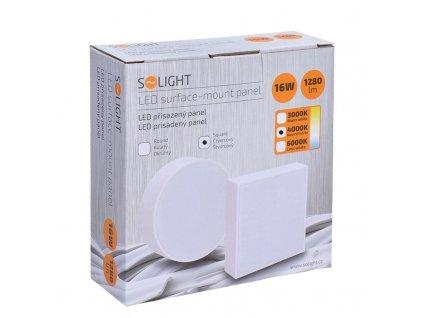 LED panel s tenkým rámečkem - 16W, 1280lm, 4000K, přisazený, čtvercový, bílý - Solight (WD130)