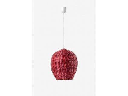 83877 zavesne svitidlo egg 16x23cm prouti cervena planta design lyl14030r