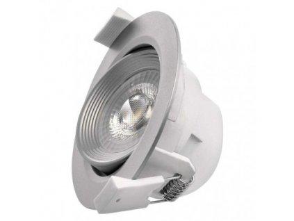 LED bodové svítidlo stříbrné - 5W, 350lm, WW - teplá bílá, kruh - Emos (ZD3620)
