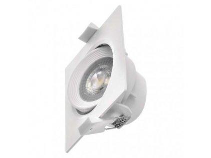 LED bodové svítidlo bílé - 7W, 500lm, WW - teplá bílá, čtverec - Emos (ZD3570)