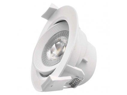 LED bodové svítidlo bílé - 5W, 350lm, NW - neutrální bílá, kruh - Emos (ZD3521)