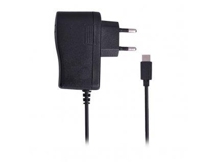 USB nabíjecí adaptér - kabel s USB Typ-C konektorem, 5V/3A, AC 230V, černý - Solight (DC61)