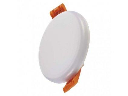LED vestavný panel - 6W, 400lm, teplá bílá (WW), IP65, kruh, bílá - Emos (ZV1111)