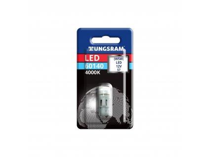 LED autožárovka W5W (T10) - 0,6W/12V/4.000K/W2.1x9.5d (1 ks) - Tungsram (98018667;60140)