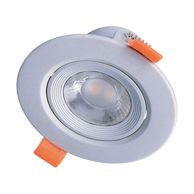 LED podhledové bodové světlo - 9W, 720lm, 3.000°K (WW), kulaté, 38°, stříbrné - Solight (WD216)