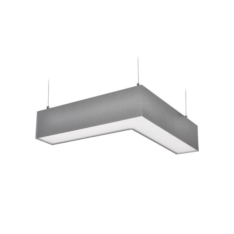 LED lineární závěsné osvětlení - 18W, 1500lm, L konektor,Lifud, 3 roky záruka, stříbrná barva - Solight (WPR-18W-001)