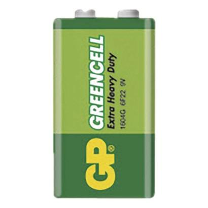 Zinkochloridová baterie GP Greencell 9V fólie