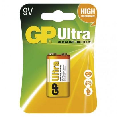 Alkalická baterie GP Ultra 6LF22 (9V), blistr