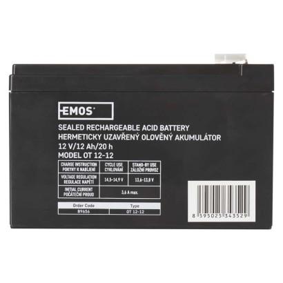 Bezúdržbový olověný akumulátor 12V 12Ah - Emos (B9656)