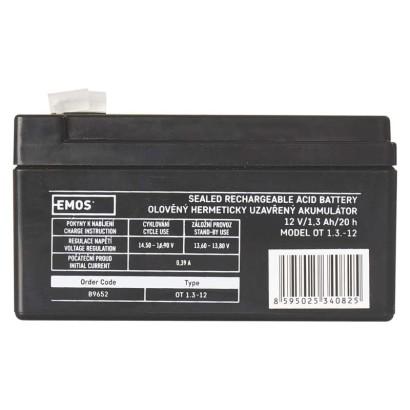 Bezúdržbový olověný akumulátor 12V 1,3Ah - Emos (B9652)