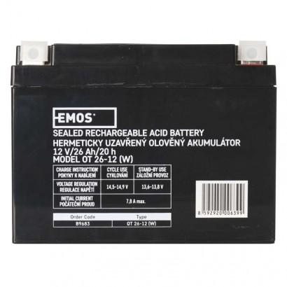 Bezúdržbový olověný akumulátor 12V 26Ah - Emos (B9683)