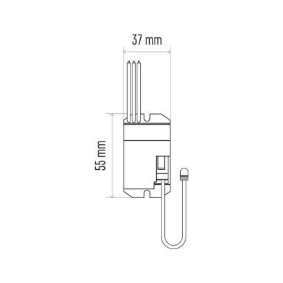 PIR senzor (pohybové čidlo) IP20 B 800W bílý