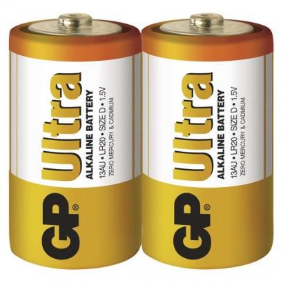 Alkalická baterie GP Ultra LR20 (D) fólie