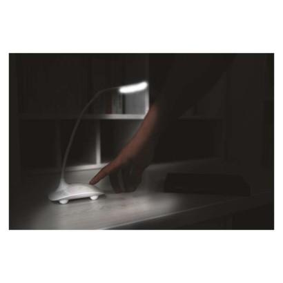 LED stolní lampa D08, bílá s USB