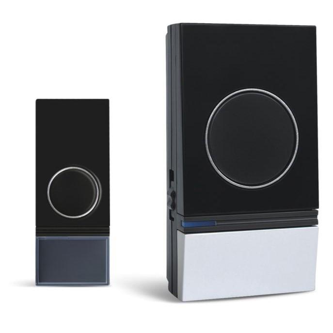 Solight bezdrátový zvonek, do zásuvky, 200m, černý, learning code (1L29)