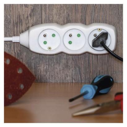 Prodlužovací kabel 4 zásuvky 7m, 3x1,0mm, bílý, PVC - Emos (P0417)