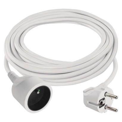 Prodlužovací kabel spojka 5m, 3x1,0mm, bílý - Emos (P0115)