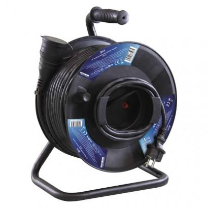 Gumový prodlužovací kabel na bubnu - spojka 50m