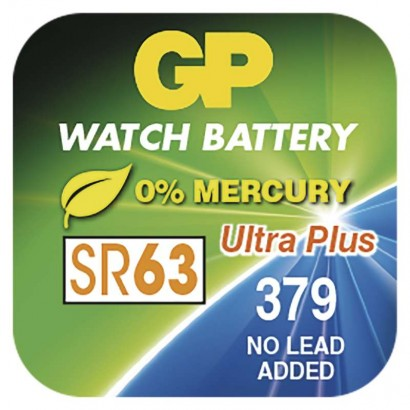 Knoflíková baterie do hodinek GP 379F, krabička
