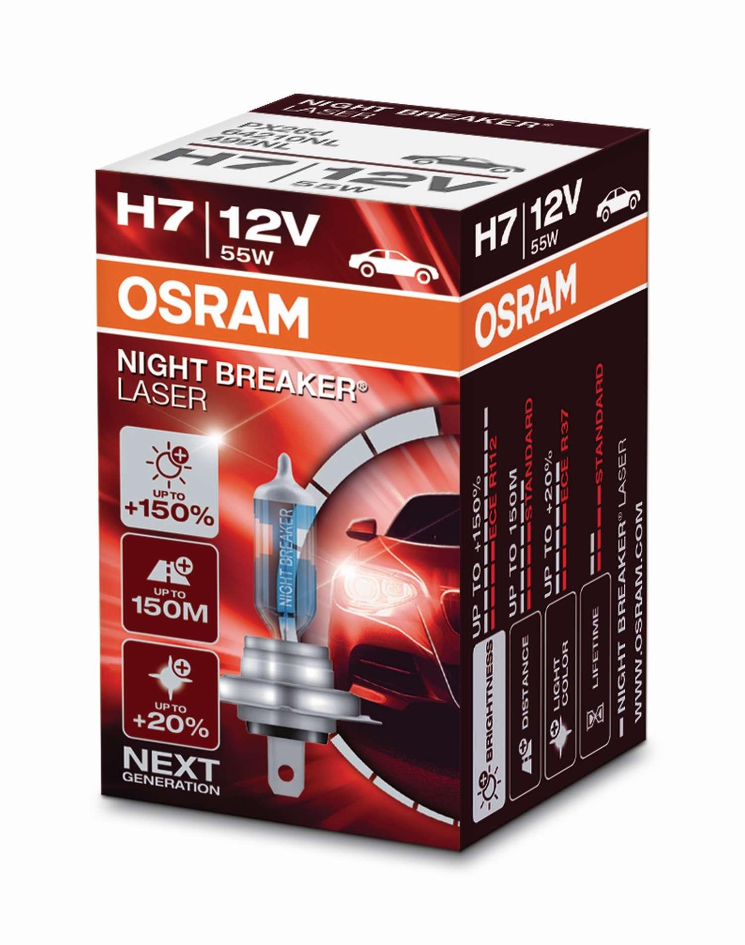 Osram Night Breaker Laser 64210NL H7 PX26d 12V 55W