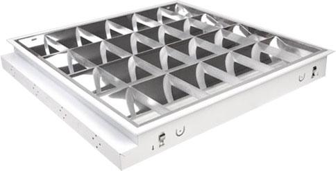 Rastrové vestavné svítidlo TAU LED pro LED trubice 4xT8 - 60cm - Greenlux (GXRV038)