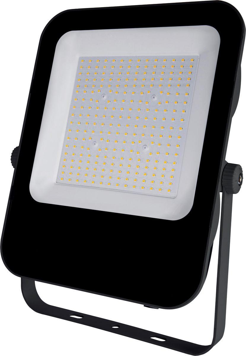 LED reflektor ALFA SMD - 200W, 20000lm, studená bílá (CW), IP65, hranaté, černé - Greenlux (GXLR042)