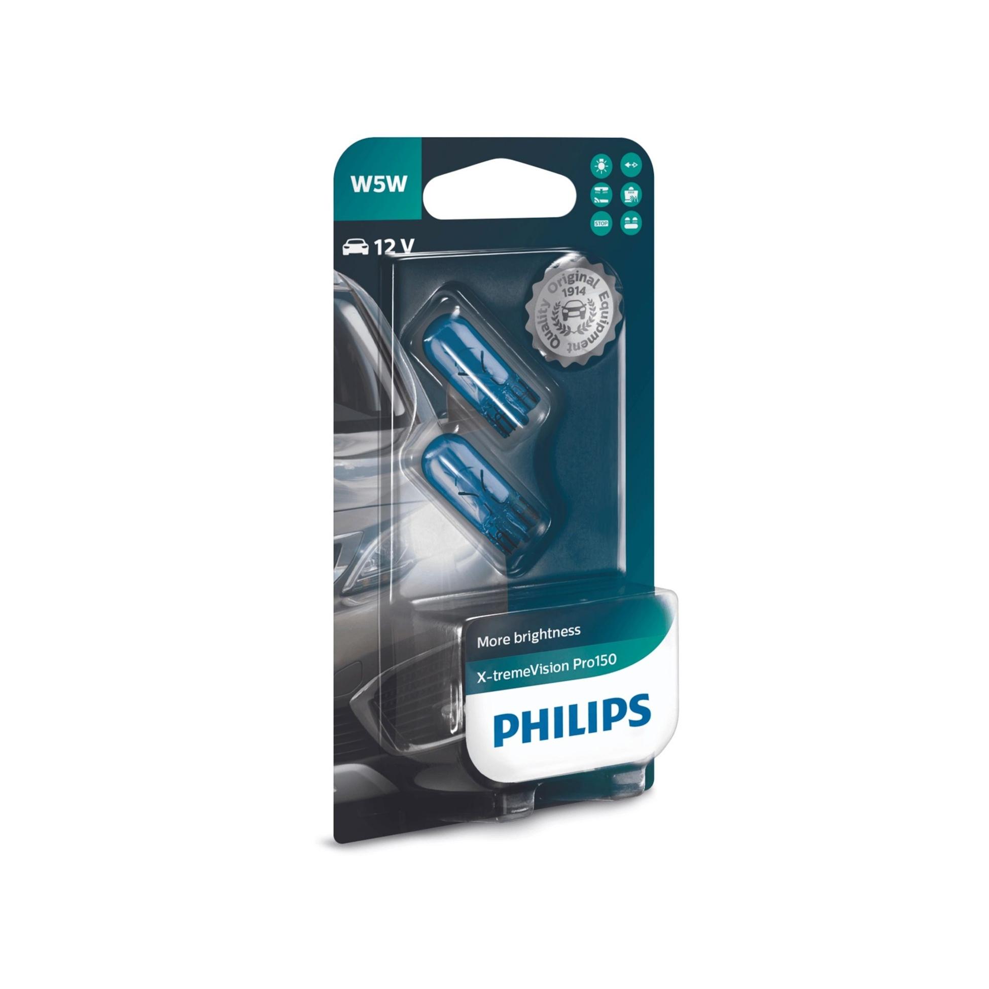 Philips X-tremeVision Pro150 12961XVPB2 W5W 12V 5W