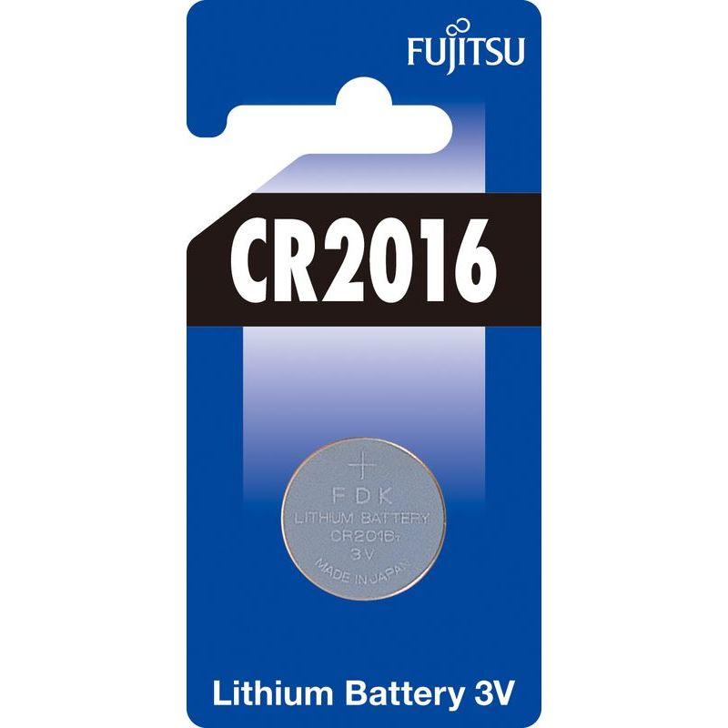Fujitsu knoflíková lithiová baterie CR2016, blistr 1ks