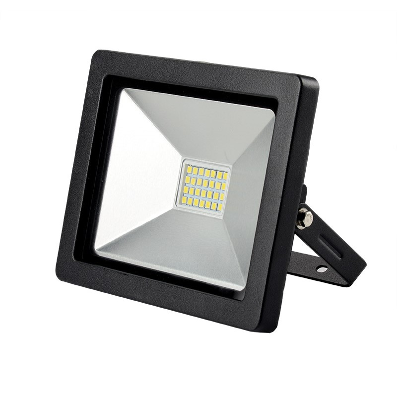 LED venkovní reflektor SLIM, 20W, 1400lm, 3000K, černá - Solight (WM-20W-G)