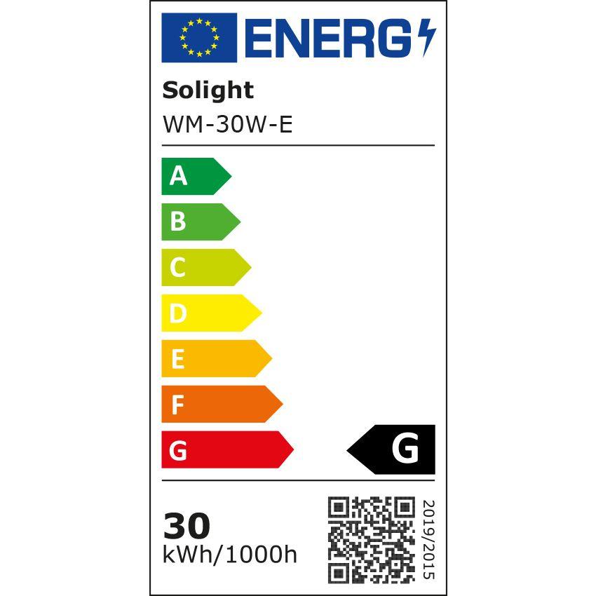 LED venkovní reflektor, 30W, 2400lm, 6000K, černá - Solight (WM-30W-E)