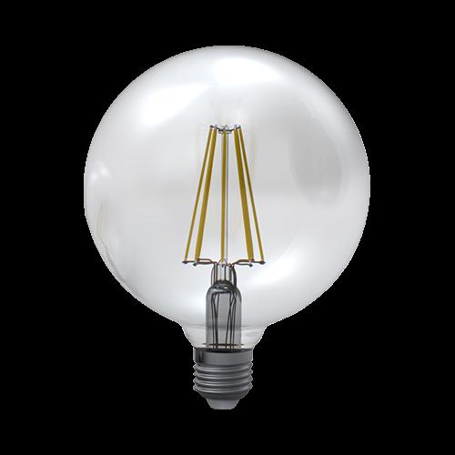 LED žárovka globe čirá 8W E27 3000K WW SKYLIGHTING (GNFL-1258C)